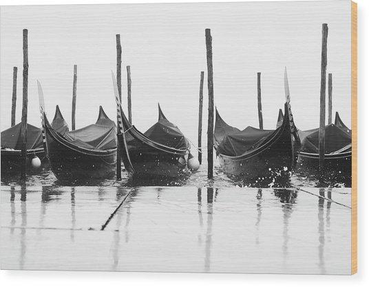 Riflessi Di Gondole 03776 Wood Print