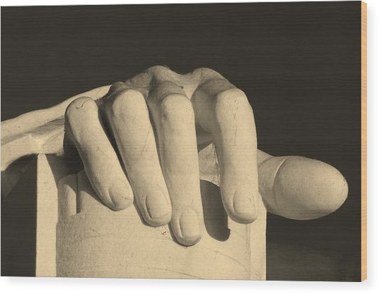 Right Hand Of The Man Wood Print
