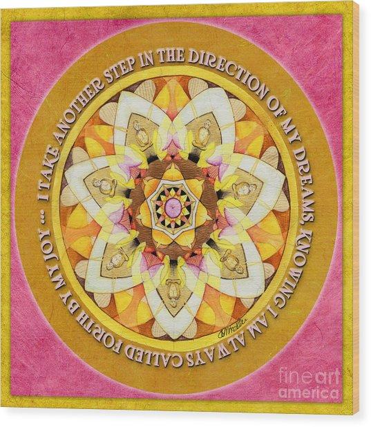 Right Path Mandala Prayer Wood Print