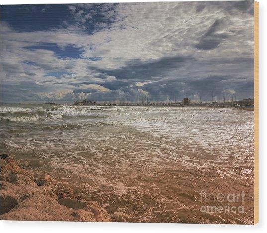 Rimini Storm Wood Print
