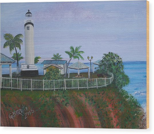 Rincon's Lighthouse Wood Print