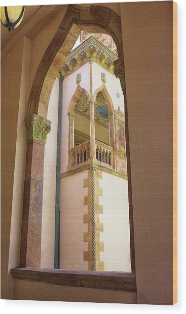 Ringling Window Wood Print