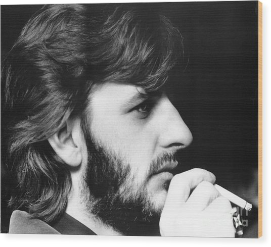 Ringo Starr In 1972 Wood Print
