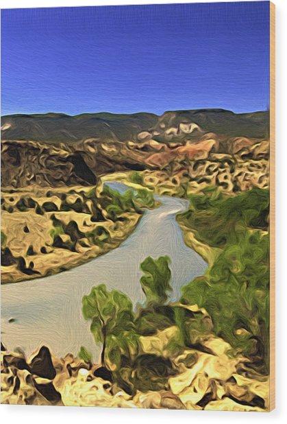 Rio Chama River Wood Print