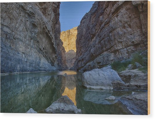 Rio Grand - Big Bend Wood Print