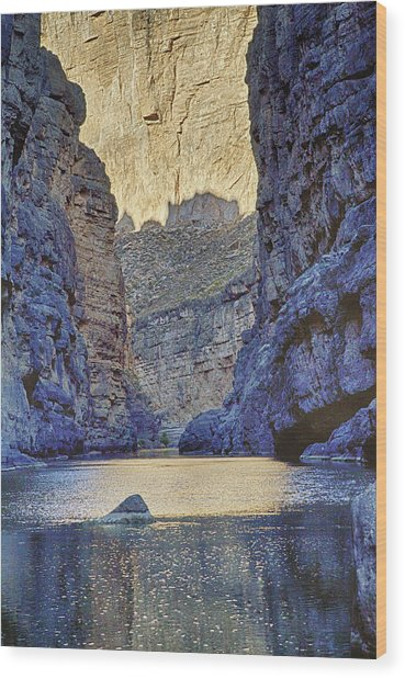 Rio Grand, Santa Elena Canyon Texas 2 Wood Print