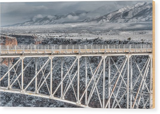 Rio Grande Gorge Bridge #001 Wood Print