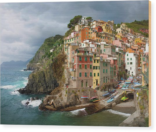 Riomaggiore Italy Wood Print