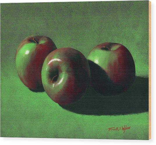 Ripe Apples Wood Print