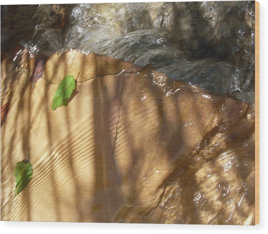Ripples And Shadows Wood Print by Warren Thompson