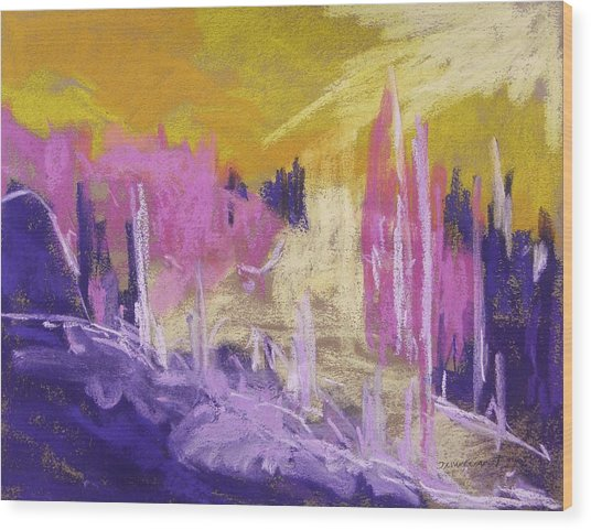 Rising Against Yellow Wood Print by John Williams