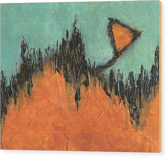 Rising Hope Abstract Art Wood Print