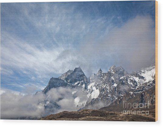 Rising Mountains Wood Print by Scott Kemper