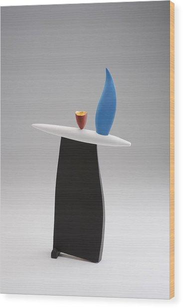 Rising Wood Print by Patricia  Volk