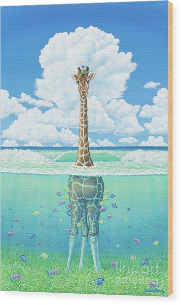 Rising Sea Wood Print