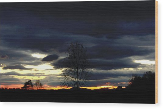 Rising Sun Wood Print by Penny Everhart