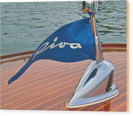 Riva Bow Flag Wood Print