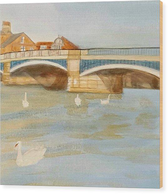 River At Royal Windsor Wood Print