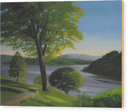 River Bend Wood Print by Robert Rohrich