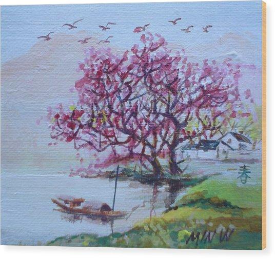 River Day Wood Print by Min Wang