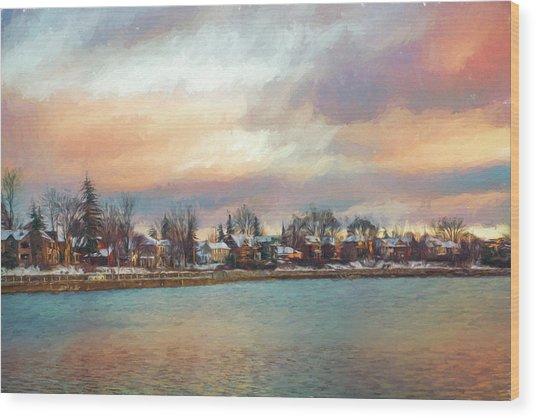 River Dream Wood Print