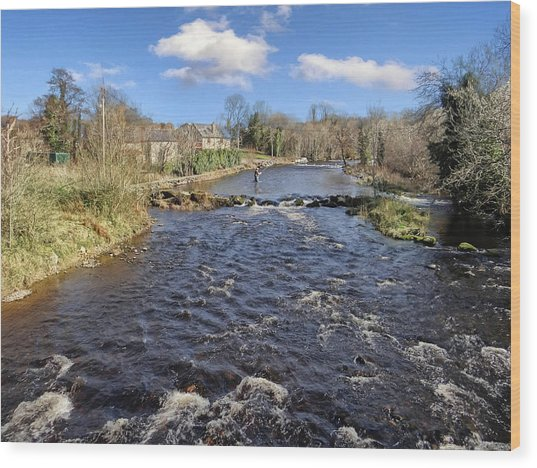 River Drowse At Kinlough, Leitrim - One Of The Best Trout And Salmon Fishing Rivers In Ireland Wood Print