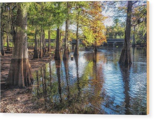 River Eeriness Wood Print
