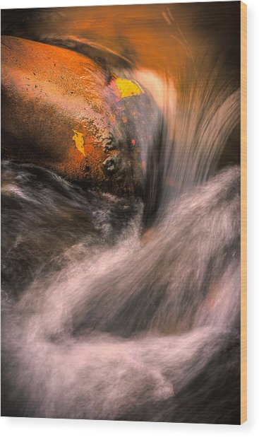 River Flow, Zion National Park Wood Print
