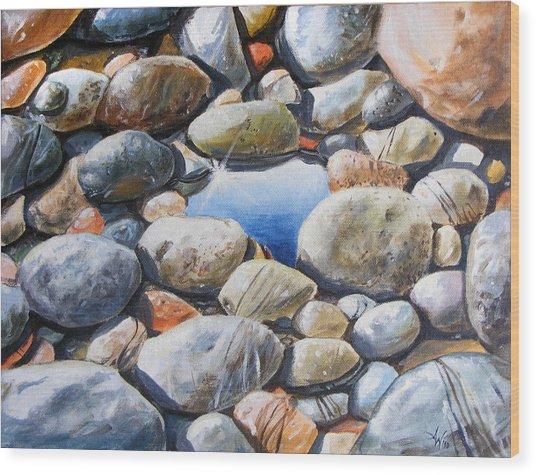 River Gems Wood Print