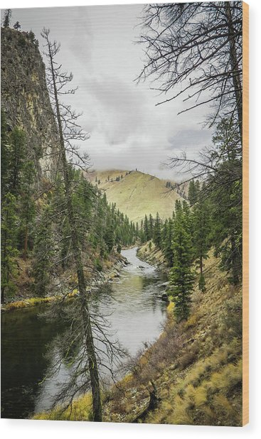 River In The Canyon Wood Print