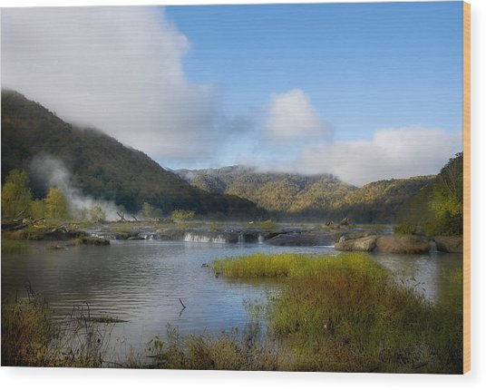 River In The Mountains Wood Print by John Mueller