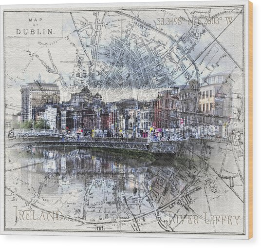 River Liffey Dublin Wood Print