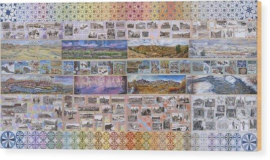 River Mural Complete Wood Print