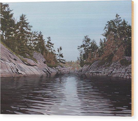 River Narrows Wood Print