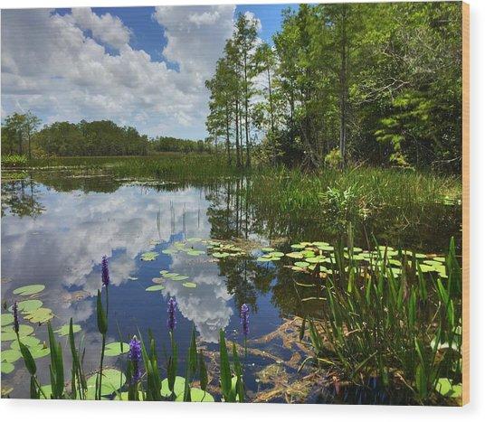 River Of Calm Wood Print