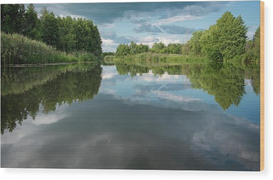 Wood Print featuring the photograph River Of Dreams. Sedniv, 2015. by Andriy Maykovskyi