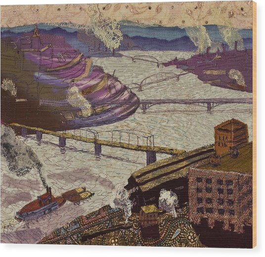 River Of Industry Wood Print