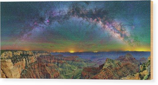 River Of Stars Wood Print