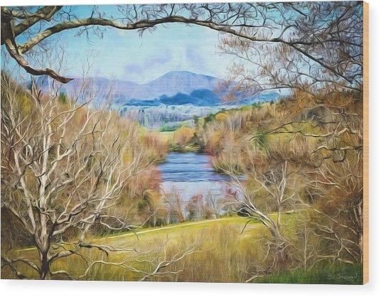 River Overlook Wood Print
