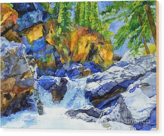 River Pool Wood Print