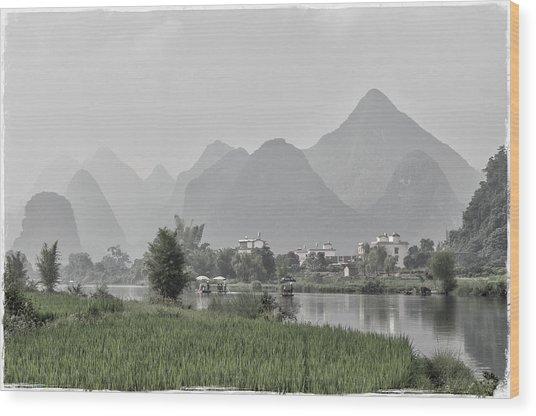 River Rafting Wood Print