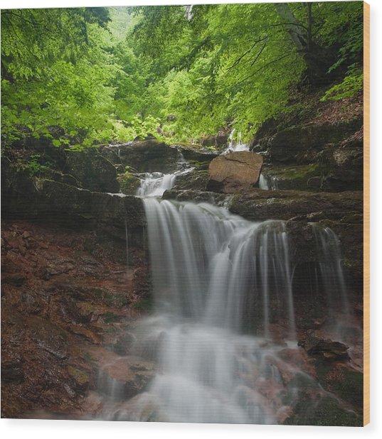 River Rapid Wood Print