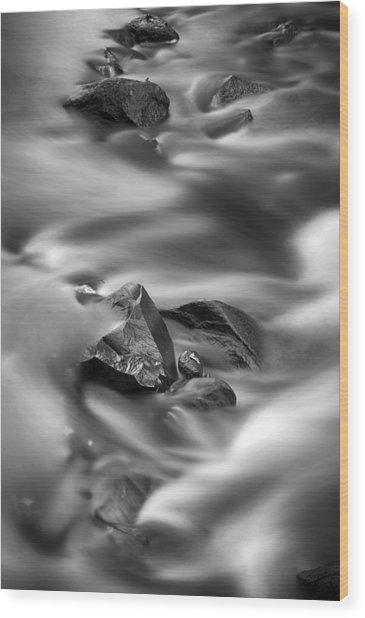 River Rocks Wood Print