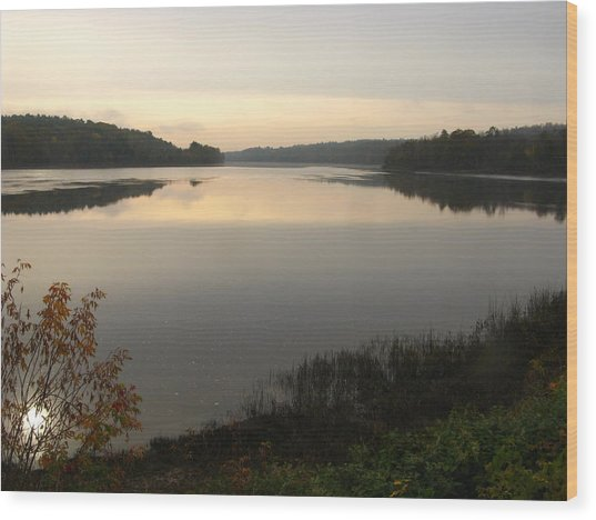 River Solitude Wood Print