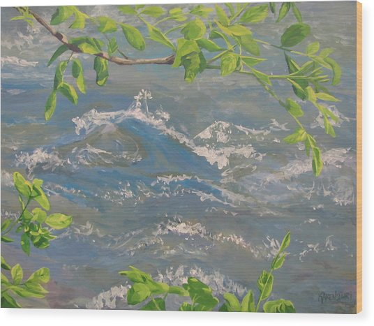 River Spring Wood Print