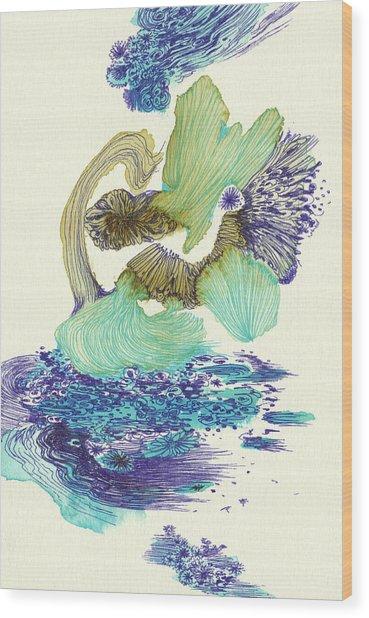 River - #ss18dw004 Wood Print by Satomi Sugimoto