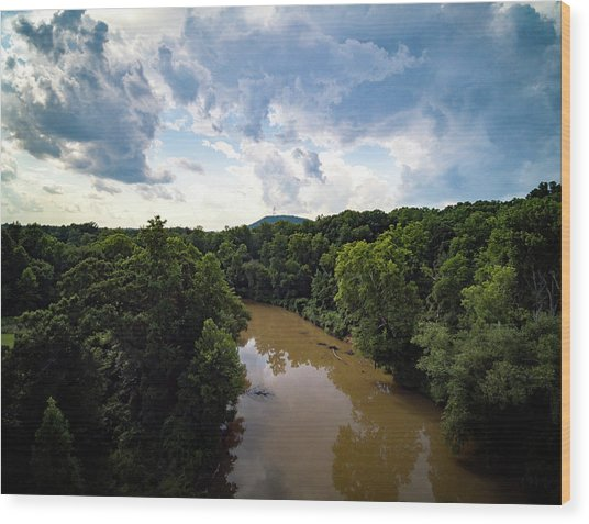 River View From Above Wood Print