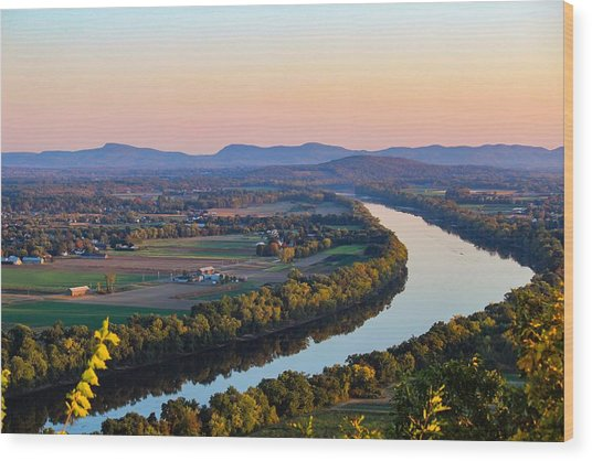 Connecticut River View  Wood Print