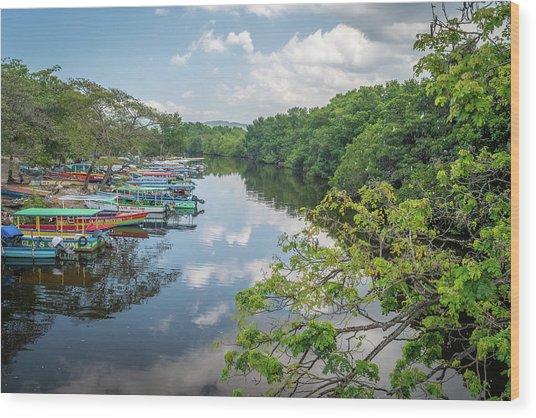 River Views In Negril, Jamaica Wood Print