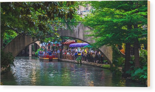 River Walk Dining Wood Print